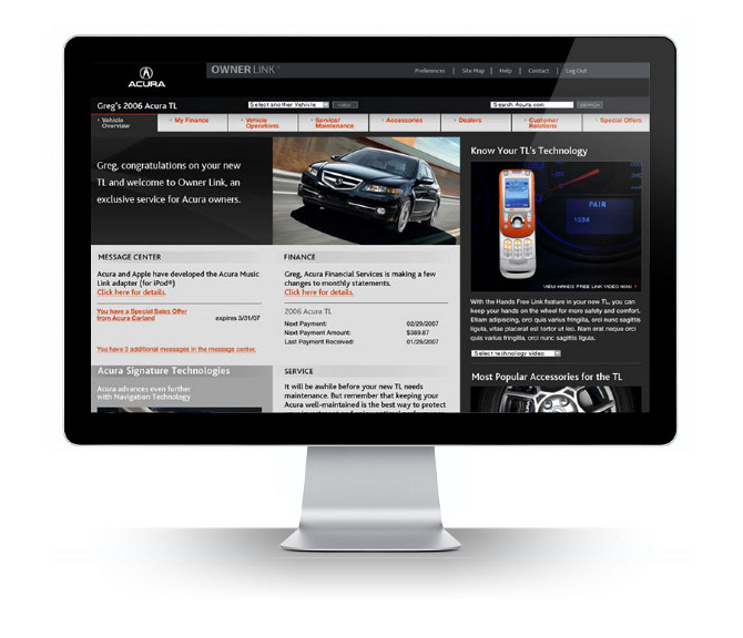 Acura Owners Website UX - Jane Reinberg on